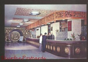 TAIPEI TAIWAN REPUBLIC OF CHINA MANDARIN HOTEL LOBBY VINTAGE POSTCARD