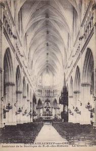 Interieur De La Basilique De N.-D.-Des-Enfants, La Grande Nef, Châteauneuf-s...