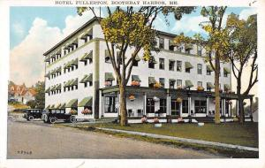 Boothbay Harbor Maine Hotel Fullerton Street View Antique Postcard K12130