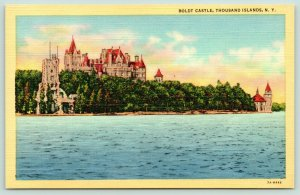 Thousand Islands New York~Boldt Castle~Red Rooftops~View from Distance~1940s
