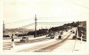 LPS29 Seattle Washington Aurora Ave. Bridge Postcard RPPC