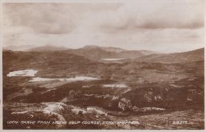 Lcoh Garve Golf Course Antique Scottish Aerial Postcard