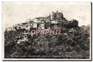 Old Postcard Eze Village Vue Generale Jack De La Moyenne Corniche