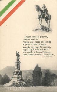 Italy Trento equestrian monument statue militare d'annunzio text