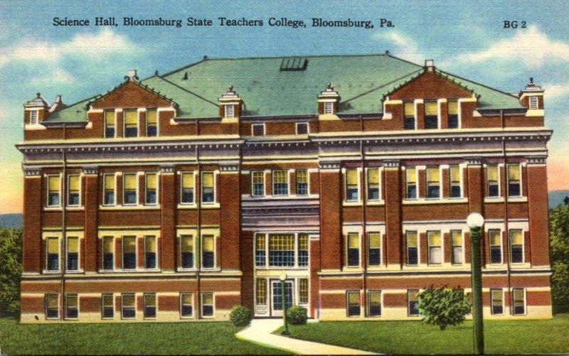 Pennsylvania Bloomsburg State Teachers College Science Hall