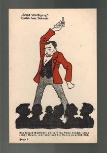 Mint Germany Cartoon Postcard Judaica Jewish Jaatov Levy Budapest