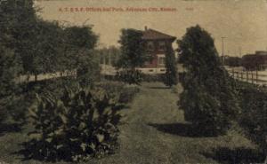 A.T. & S.F. Offices & Park Arkansas City KS 1910