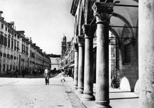 Croatia Dubrovnik Stradun Street Promenade Church Postcard