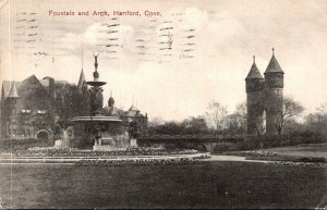 Connecticut Hartford Fountain and Arch 1909