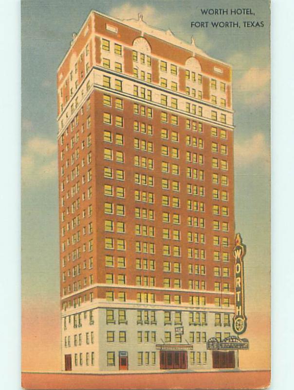 Linen WORTH HOTEL Ft. Fort Worth Texas TX u9152