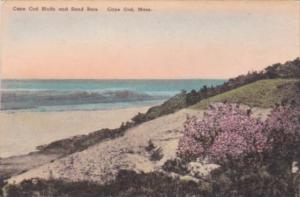 Massachusetts Cape Cod Bluffs and Sand Bars Handcolored Albertype