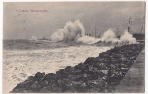 Sri Lanka / Ceylon; Colombo Breakwater PPC, 1909 PMK by Liskeen-Photo