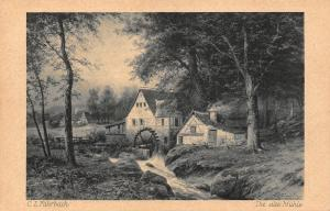 C.L. Fahrbach Die alte Muehle watermill Le vieux moulin