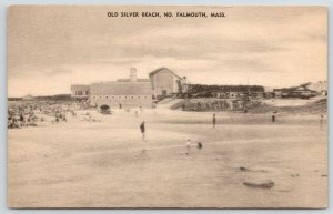North Falmouth Massachusetts~Swimming @ Old Silver Beach~Bldgs Along Shore~c1920