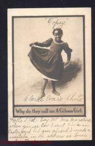 GIBSON GIRL BLACK AMERICANA CUTE NEGRO GIRL ANTIQUE VINTAGE
