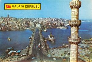Turkey Istanbul The Galata Bridge Over the entrance of the Golden Horn