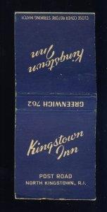 North Kingston, Rhode Island/RI Match Cover, Kingston Inn