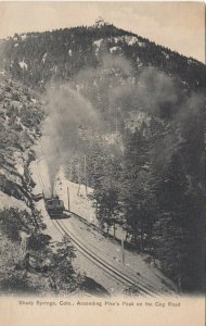 SHADY SPRINGS , Colorado, 1901-07 ;  Cog Road , Ascending Pike's Peak