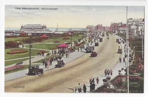 UK Southport England The Promenade Vintage Valentines Postcard Valesque