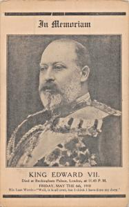 KING EDWARD VII OF ENGLAND-IN MEMORIAM-1910 POSTCARD