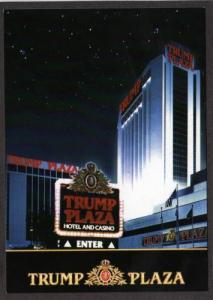 NJ Trump Plaza Hotel Casino ATLANTIC CITY NEW JERSEY Postcard Boardwalk