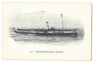 SS Bournemouth Queen Paddle Steamer PPC, 1928 Local PMK to Australia