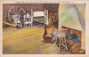 Rhode Island Providence Work Room Betsy Williams Cottage Roger Williams Park
