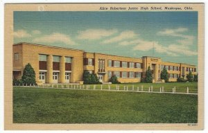 Muskogee, Oklahoma, Vintage Postcard View of Alice Robertson Junior High School