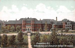 Greensboro North Carolina State Normal College For Women Postcard K81019