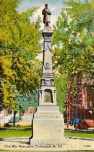 Pennsylvania Carbondale Civil War Monument