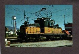 MT Milwaukee Electric Railroad Train Locomotive E80 Deer Lodge Montana Postcard