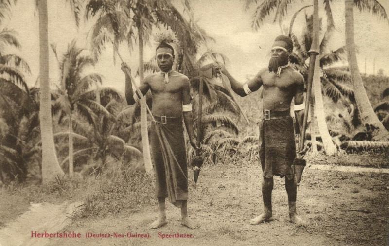 Bismarck Archipelago PNG, New Britain, Kokopo Herbertshöhe, Native Spear Dancers