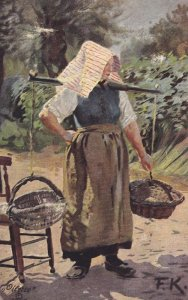 TUCK 6611; German Peasant Life , A country Lass , PU-1908