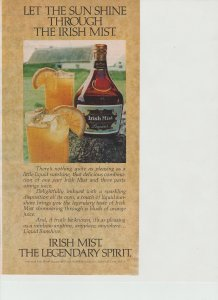 Irish Mist 1979 Print Ad, Let the Sun Shine Through, Orange Wedges