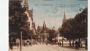 BF16701 wiesbaden rue de la gare et hotel de ville germany front/back image