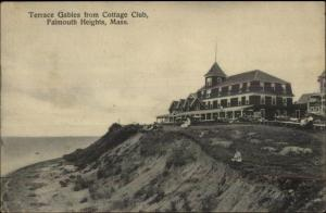 Falmouth Heights Cape Cod MA Terrace Gables c1910 Postcard #2