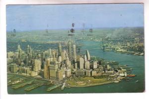 Aerial View of Lower, New York City, 1958, Alfred Mainzer, Photo Herbert Lanks
