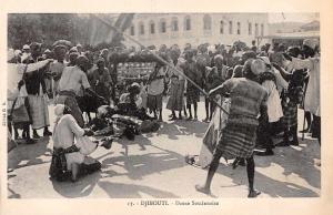 Djibouti Africa Sudanese Dance Soudanaise Antique Postcard (J34625)