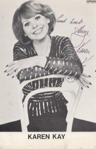Karen Kay Jazz Singer Three Of A Kind TV Show 70s Undedicated Hand Signed Photo
