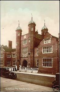 surrey GUILDFORD The Abbots Hospital (1937) Tinted RPPC