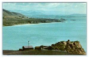 PISMO BEACH, CA California ~ OCEAN VIEW from Avila  c1940s Union Oil Postcard