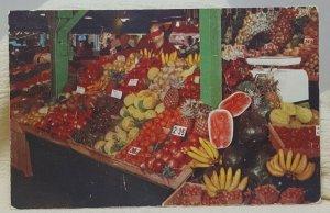 Original Farmers Market Hollywood California Vintage Postcard