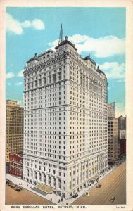 Book Cadillac Hotel, Detroit, Michigan, Early Postcard, Unused