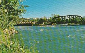 Bridges, Telkwa River, Bulkley River, Telkwa, British Columbia, Canada, 40-60´s