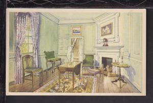 Martha's Sitting Room,Mount Vernon,VA Postcard