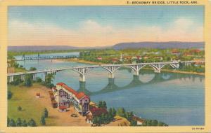 Broadway Bridge at Little Rock AR, Arkansas - Linen