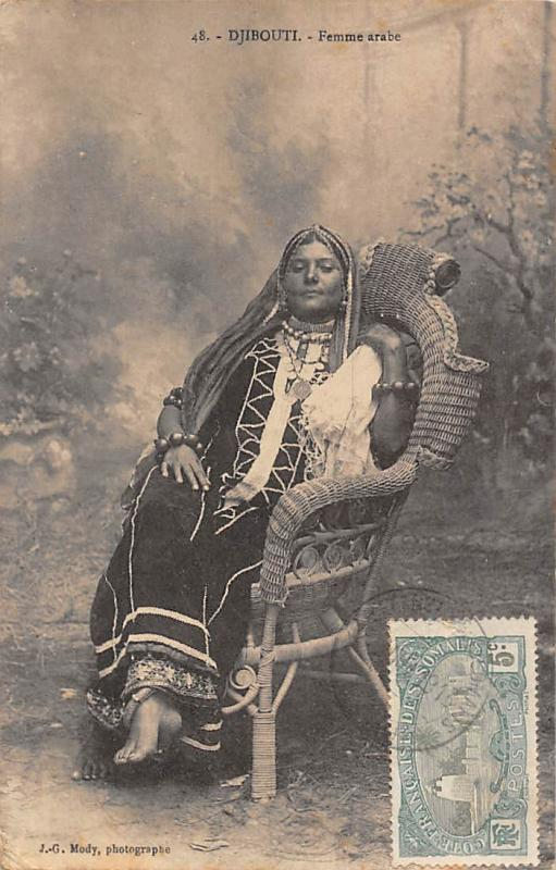 Djibouti Femme arabe, Native Traditional Arab Woman 1913
