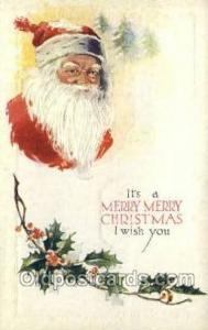 Santa Claus Holiday Christmas Post Cards Postcard
