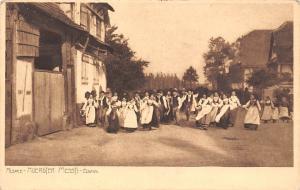 France Alsace Hoerdter Messti Elsass Traditional Costumes Dancing