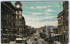 MELBOURNE, AUSTRALIA   Early BOURKE STREET Scene  ca 1910s  Postcard